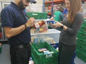 Agents Giving ask you to support your local foodbank