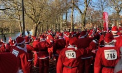 Team Thomas Charles Lettings taking on the Santa Run