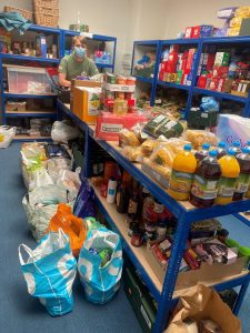 Dawsons Property of Swansea collected 634 items of food for food banks