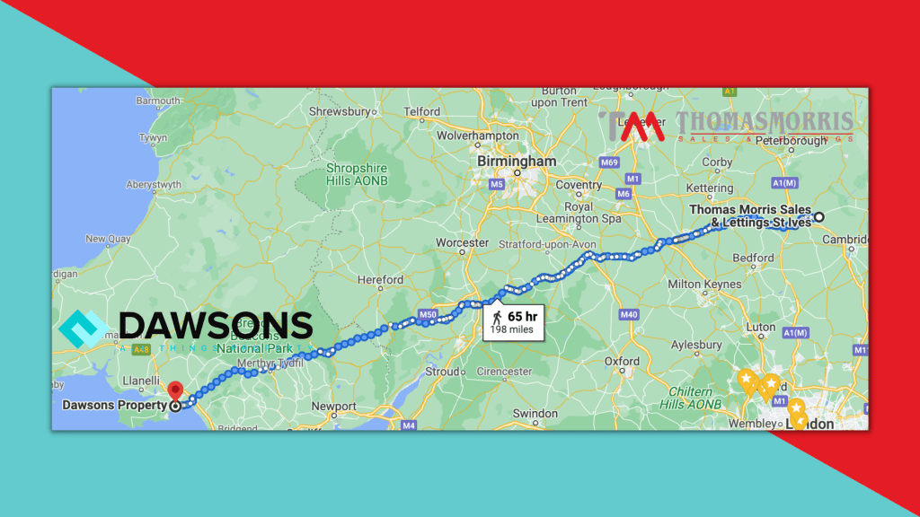 Dawsons and Thomas Morris 199 Mile Challenge for Agents Giving Charity